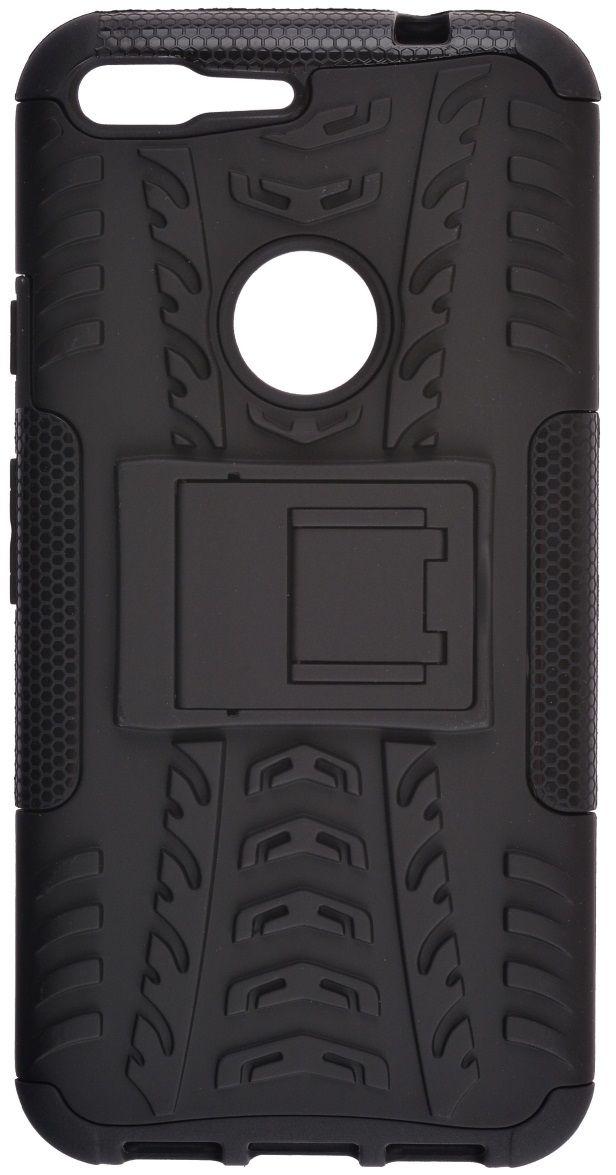 Skinbox Defender Case чехол для Google Pixel XL, Black2000000115306Чехол надежно защищает ваш смартфон от внешних воздействий, грязи, пыли, брызг. Он также поможет при ударах и падениях, не позволив образоваться на корпусе царапинам и потертостям. Чехол обеспечивает свободный доступ ко всем функциональным кнопкам смартфона и камере.