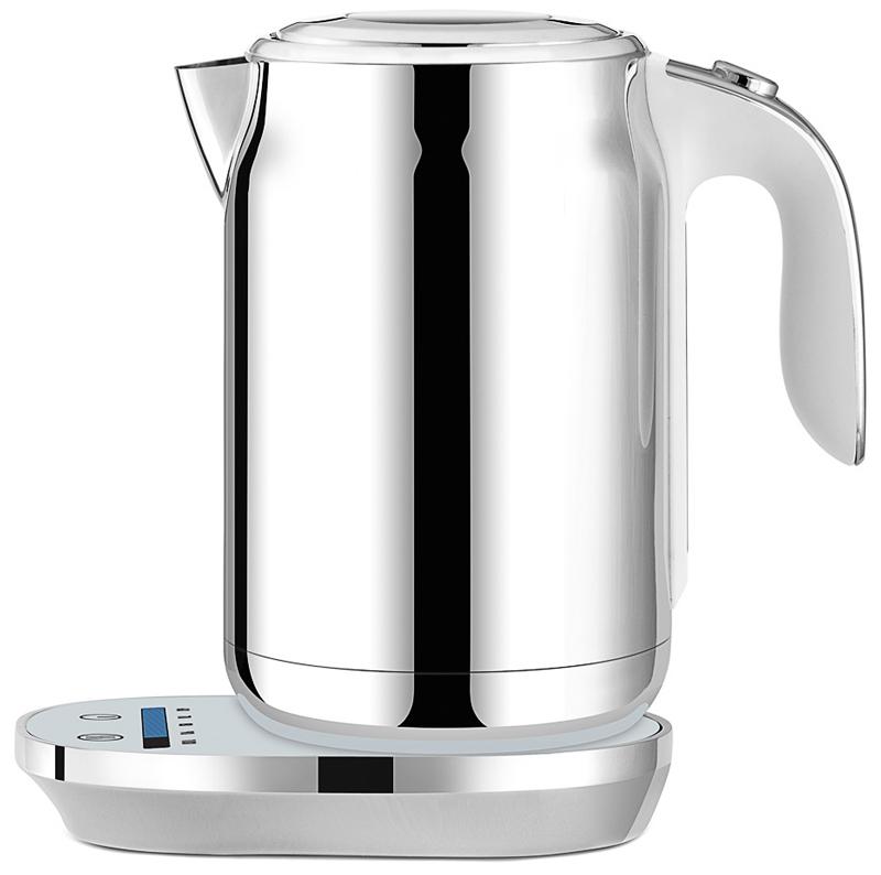Element ElKettle WF11MW, White чайник электрическийWF11MWПредставляем новый smart-чайник Element ElKettle WF11MW из нержавеющей стали с сенсорным управлением, регулировкой температуры нагрева и функцией поддержания тепла.Чайник имеет пять температурных режимов. Все параметры выбираются с помощью сенсорной панели, состоящей из температурной шкалы Touch line и двух кнопок. Корпус чайника изготовлен из нержавеющей стали – практично и стильно. Глянцевая подставка-основание чайника дополнена белой подсветкой элементов управления. На информативной шкале отображается текущая температура воды в чайнике. Силиконовое покрытие ручки Soft-touch и контактная группа STRIX (Великобритания; вращение 360°) делают чайник удобным и надежным. Крышка прибора оснащена плавным механизмом открывания и смотровым окошком.Чайник Element ElKettle WF11MW – отличное дополнение к любому завтраку для начала еще одного прекрасного дня!