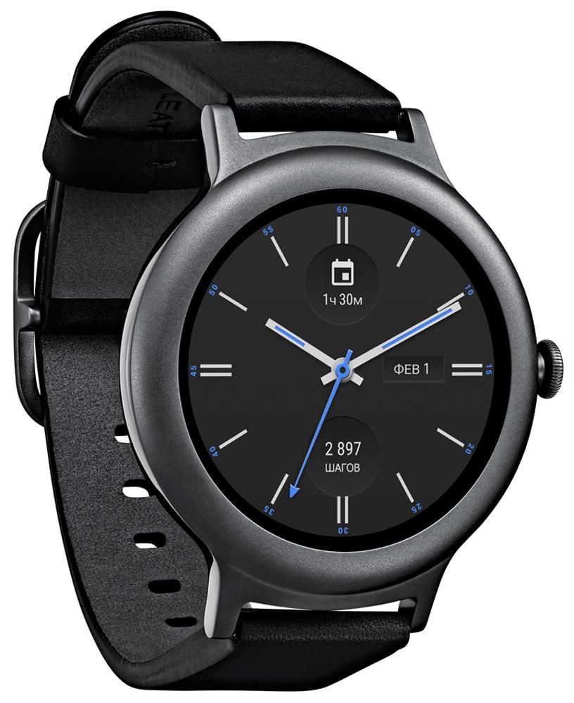LG W270, Black смарт-часыLGW270.ACISTNНаконец-то появились изысканные часы LG W270, сочетающие в себе совершенный стиль, превосходные материалы и все современные возможности. Интеллект и красота в идеальном исполнении теперь доступны в небольших и тонких часах на Android Wear. В этом современном ювелирном украшении нет ни одного компромисса.Стильный ремешок искусно создан из лучшей натуральной итальянской кожи. С новым механизмом крепления Snap-and-Swap менять ремешки можно легко и быстро. Отправляясь после тренировки на изысканный ужин, просто смените стильный ремешок, и вы будете выглядеть великолепно.Выберите один из привлекательных циферблатов и настройте цвет, вид стрелок, цифр и многое другое. Затем выберите до 8 виджетов-усложнений и организуйте их так, как вам удобно, чтобы все любимые приложения всегда были под рукой.В новом круглом интерфейсе задействован весь циферблат часов, что позволяет быстро открывать приложения и осуществлять навигацию. Прикоснитесь к дисплею или поверните боковое колесико для прокрутки. Нажмите боковое колесико, чтобы активировать часы, закончить телефонный звонок или вернуться к домашнему экрану.При чтении длинных сообщений больше не нужно перелистывать страницы. Просто прокрутите текст пальцем вверх и вниз или поверните колесико. Этот же способ прокрутки можно использовать для облегченного доступа к приложениям и функциям.Отправляйте сообщения друзьям при помощи клавиатуры, улучшенного распознавания рукописного текста, смарт-ответов и символов эмодзи. Прямо на экране часов вы можете общаться через Facebook Messenger, WeChat, WhatsApp, Hangouts и SMS.Даже если ваши руки заняты, вы можете проверять сообщения и уведомления, а также прокручивать вверх и вниз с помощью простого жеста запястьем, если включено управление жестами. Если у вас в руках сумка, или вы держите кого-то за руку, вы все равно можете управлять часами движением запястья.Находите ответы на вопросы и решайте задачи, даже если ваши руки заняты. Предупредите друга о то