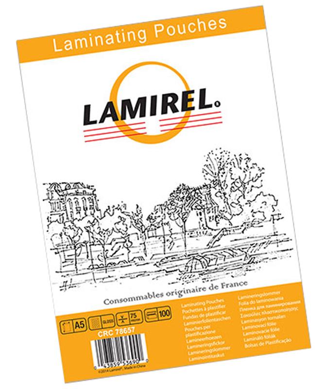 Lamirel А5 LA-78657 пленка для ламинирования, 75 мкм (100 шт)LA-78657Пакетная пленка Lamirel LA-78657 предназначена для защиты документов от нежелательных внешних воздействий. Обеспечивает улучшенную защиту от грязи, пыли, влаги. Документ дополнительно получает жесткость на изгиб и защиту от механического воздействия и потертостей. Идеально подходит для интенсивной эксплуатации. Глянцевое покрытие улучшает внешний вид документа: краски становятся глубже, ярче и контрастнее.