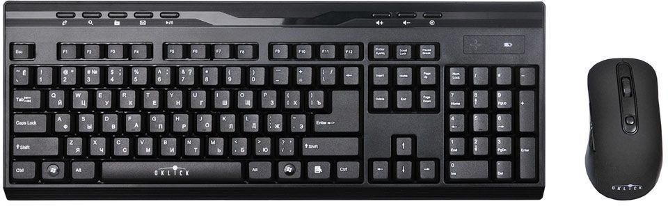 Oklick 280M, Black комплект мышь + клавиатура