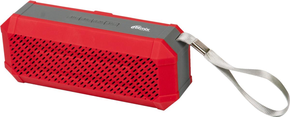 Ritmix SP-260B, Red портативная акустическая система15118770Компактная акустическая мини-колонка Ritmix SP-260B с ярким дизайном и чистым звучанием.Совместима с большинством аудио и мультимедийных устройств, а компактные размеры позволяют всегда брать ее с собой. На верхней грани корпуса расположилась удобная панель управления. Встроенный литий-ионный аккумулятор ёмкостью 400 мАч и компактные размеры позволяют использовать устройство в стационарных и мобильных условиях работы.