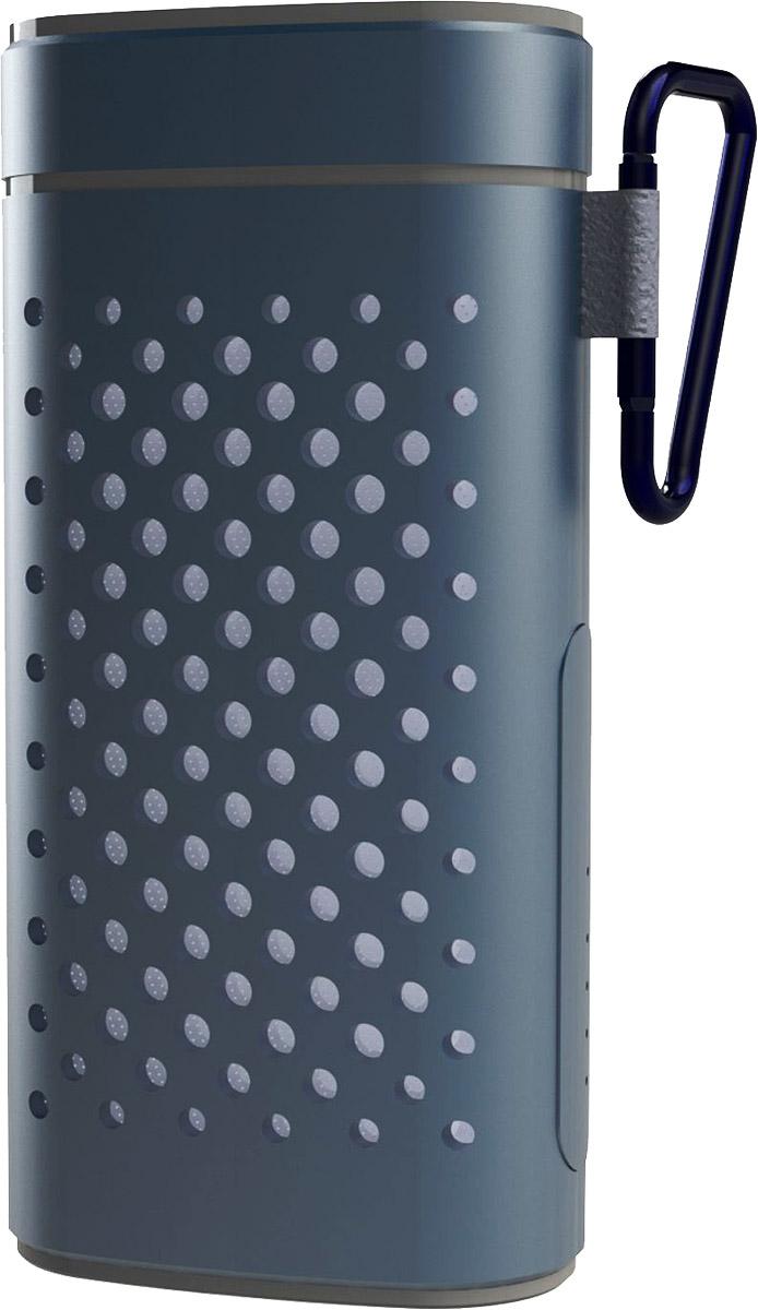 Ritmix SP-440PB, Gray портативная акустическая система15118775(BTH+TF+AUX+Power Bank) Портатив.колонка Bluetooth 2.0, мощн 5 Вт(38мм),диап.част.280-16000 Гц, мр3-плеер(с micro SD),лин. вход AUX 3,5мм, Li-ion аккум.4400мАч-вых.зарядки USB 1A 5V, корпус алюминий c карабином, цвет- серый