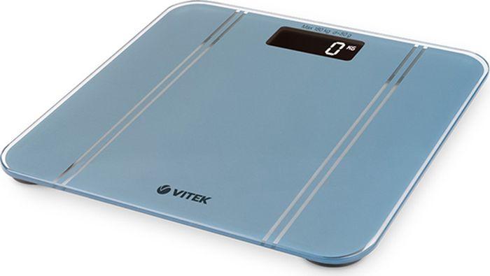 Vitek 8066(GY) весы напольныеVT-8066(GY)Весы напольные VITEK 8066(GY) Максимальный вес 180 кг / 50г Квадратная платформа 306*306 мм LCD.