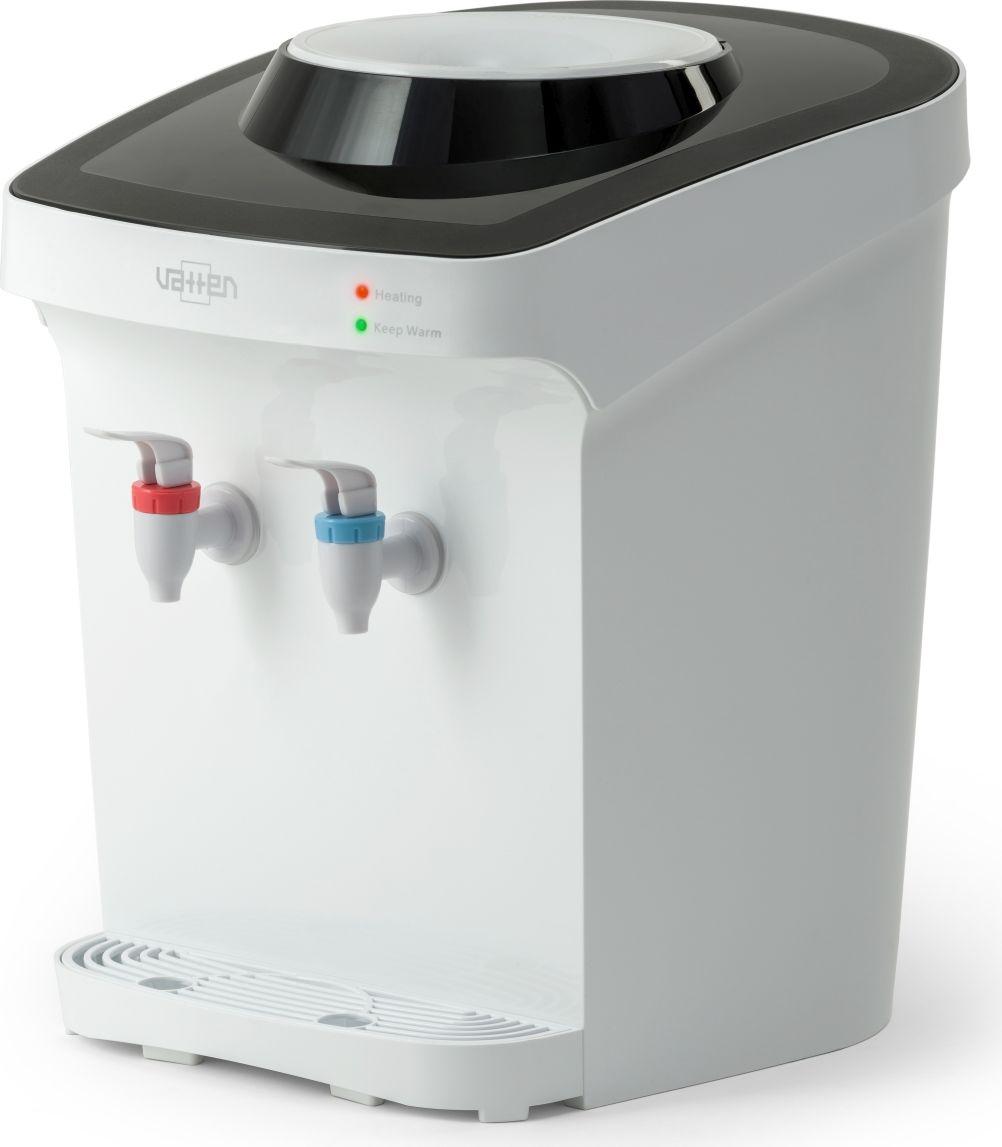 Vatten D26WE, White кулер для воды3512Кулер VATTEN D26WE настольный мощность нагрева 420ВТ, охлаждения 70 вт. Произ-ть хол/гор- 0,6/4 л/час, электронное охлаждение, кран, настольный