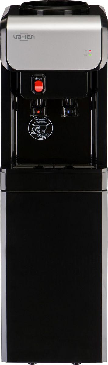 Vatten V19NK, Black кулер для воды3531Кулер VATTEN V19NK с верхней загрузкоймощность нагрева 440ВТ, охлаждения 105 вт. Произ-ть хол/гор- 2,7/7 л/часкомпрессорное охлаждение, пуш кран, напольный, индикатор