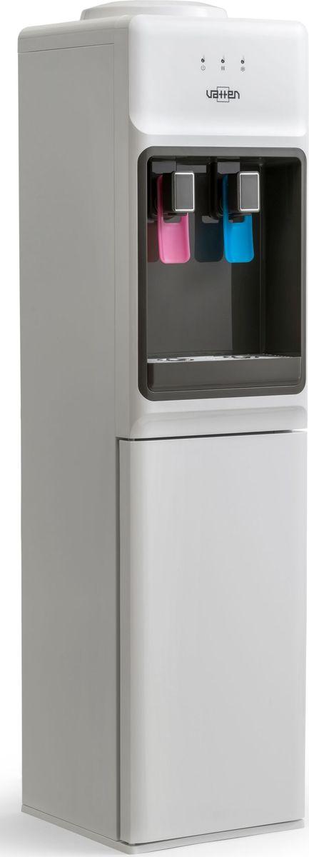 Vatten V44 WE, White кулер для воды4582Кулер VATTEN V44 WE с верхней загрузкоймощность нагрева 420ВТ, охлаждения 80 вт. Произ-ть хол/гор- 0,6/4 л/час, шкафчик 14 лэлектронное охлаждение, пуш кран, напольный