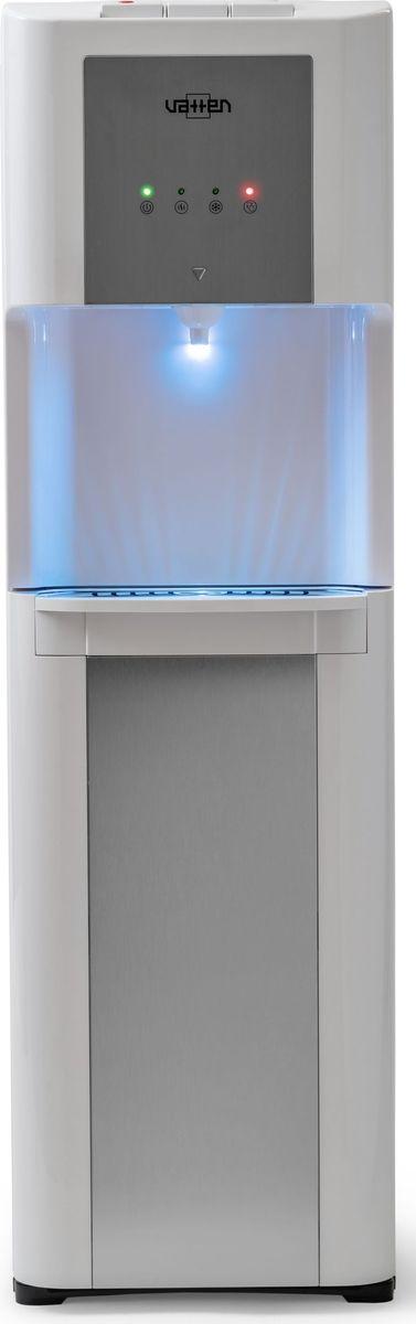 Vatten L48 WK, White кулер для воды4869Кулер VATTEN L48 WK с нижней загрузкой мощность нагрева 650 ВТ, охлаждения 100 вт. Произ-ть хол/гор- 2,5/6 л/часкомпрессорное охлаждение, три кнопки, (холодная, горячая, комнатная) один кран, напольный