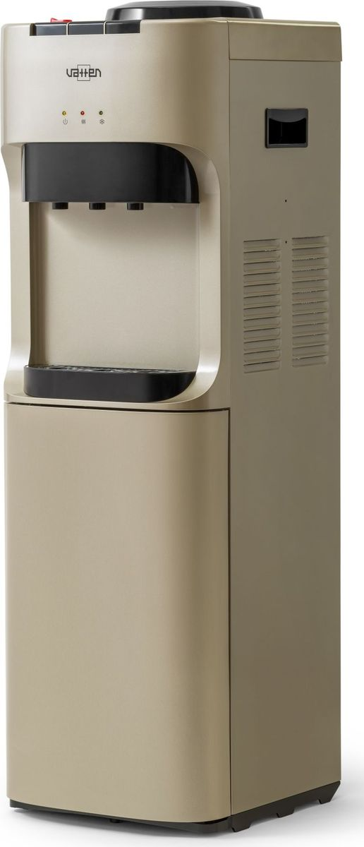 Vatten V45QE, Champagne кулер для воды5021Кулер VATTEN V45QEмощность нагрева 650 ВТ, охлаждения 70 вт. Произ-ть хол/гор- 0,6/6 л/часэлектронное охлаждение, три кнопки, (холодная, горячая, комнатная) напольный
