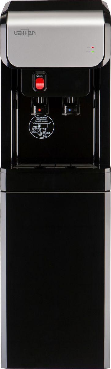 Vatten ОV19NK, Black пурифайер4902Пурифайер VATTEN ОV19NK+Everpure ACмощность нагрева 440ВТ, охлаждения 105 вт. Произ-ть хол/гор- 3,2/6,5 л/час микрофильтрациякомпрессорное охлаждение, пуш кран, напольный, баки из стали