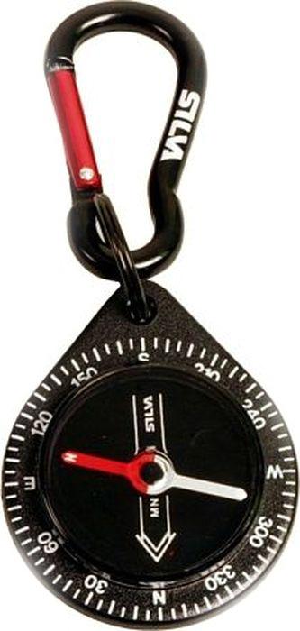 """Компас Silva """"Compass 9 Black Carabiner"""", цвет: черный"""