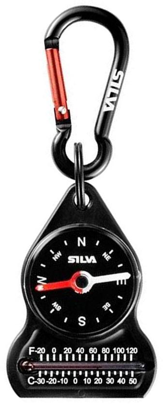 Компас Silva  Compass 10 Carabiner , цвет: черный - Компасы и Курвиметры