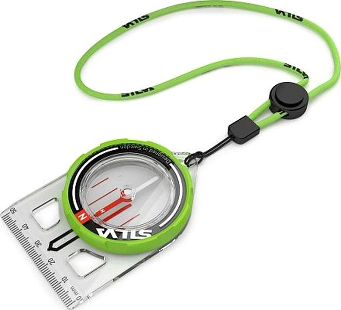 Компас Silva Compass Trail Run, цвет: салатовый компас silva compass field 37501
