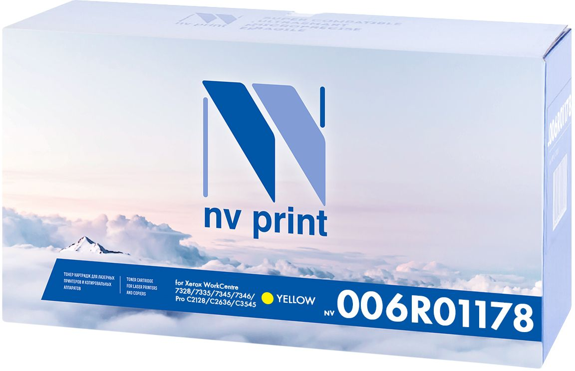 NV Print 006R01178Y, Yellow тонер-картридж для Xerox WorkCentre 7328/7335/7345/7346/Pro C2128/C2636/C3545NV-006R01178YКартридж NVP лазерный совместимый Xerox, производитель NV Print, модель NV-006R01178 Yellow для Xerox WorkCentre 7328/7335/7345/7346/Pro C2128/C2636/C3545, ресурс 16000 копий