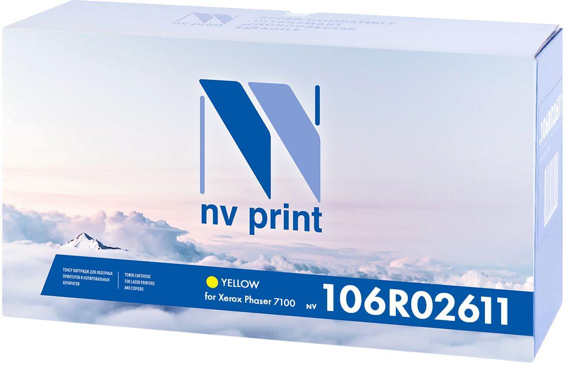 NV Print 106R02611Y, Yellow тонер-картридж для Xerox Phaser 7100NV-106R02611YКартридж NVP лазерный совместимый Xerox, производитель NV Print, модель NV-106R02611 Yellow для Xerox Phaser 7100, ресурс 9000 копий