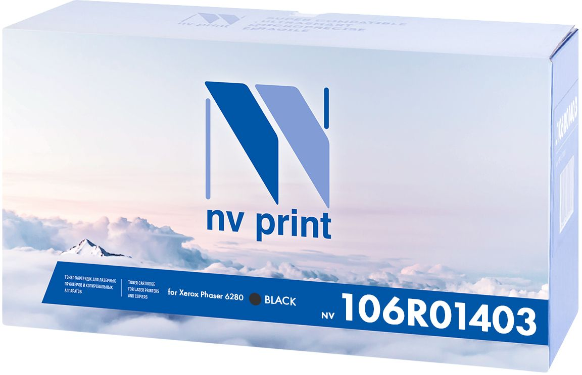 NV Print 106R01403Bk, Black тонер-картридж для Xerox Phaser 6280NV-106R01403BkКартридж NVP лазерный совместимый Xerox, производитель NV Print, модель NV-106R01403 Black для Xerox Phaser 6280, ресурс 7000 копий