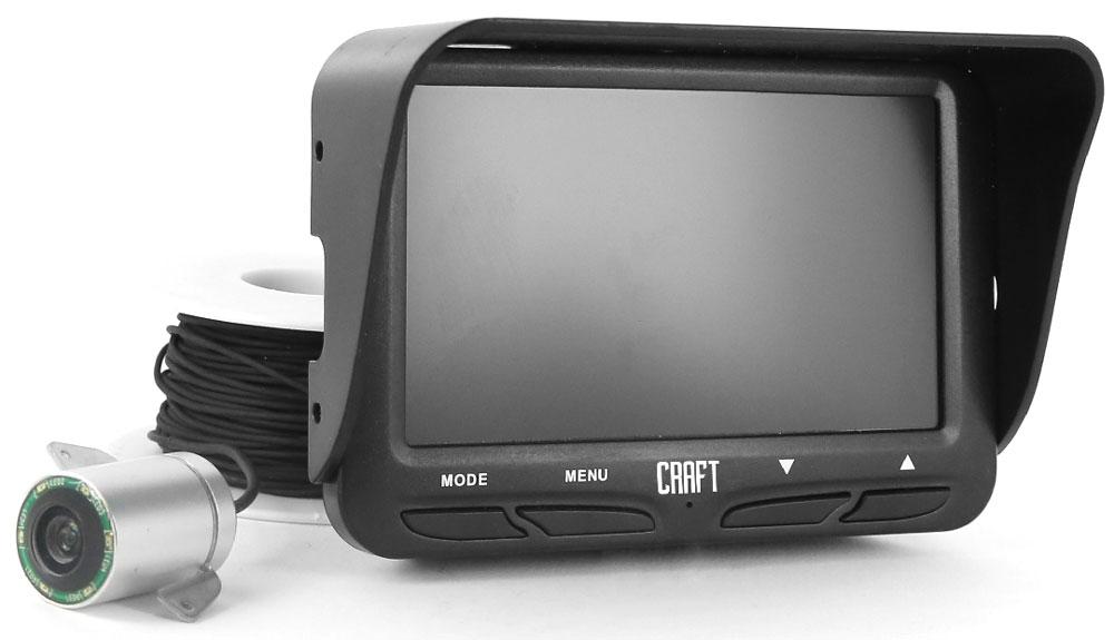 Камера подводная Craft FishEye 11097299Если говорить о строении подводной камеры, то в целом оно очень похоже на строение обычного сухопутного аппарата. Отличительной особенностью являетсяналичие ИК-подсветки.Модель FishYEY 110 имеет в своем арсенале 6 светодиодов.Чтобы охарактеризовать данную камеру, обратимся к рассмотрению нескольких принципиальных параметров.Прежде всего, это угол восприятия. Конечно, чем этот показатель выше, тем лучше камера будет выполнять свои функции. Если говорить о модели FishYEY 110, то ее подводная камера имеетугол обзора в 140 градусов. К слову, камера предлагает съемку в формате HD, что также является принципиальным параметром при характеристике устройства.Экран устройств -4,3 дюйма TFT LCD (480 х 272). Модель FishYEY 110 может передавать реальную картинку, также она оснащена микрофоном.Оптимальная глубина для погружения камеры - в пределах 20 метров (как раз такой длины кабель идет в комплекте).Немаловажны показатели, касающиеся работы аккумулятора. Модель FishYEY 110 рассчитана на6 часов работы. В комплекте 2 литий-ионных аккумулятора 2200 мАч (последовательное соединение).Габариты камер невелики: у FishYEY 110 это 125 х 80 х 65 (при весе 300 г).Рабочая температура устройств от -20 до +60.Очевидно, что камера водонепроницаема. И конечно же, имеет русифицированный интерфейс.Помимо кабеля в комплекте идут липкий крепеж для его фиксации, удобный кейс и инструкция по использованию.Как вы видите, все показатели очень достойны, и камера FishYEY фирмыCraft имеет полное право занять почетное место в арсенале любого рыбака: как любителя, так и профессионала.