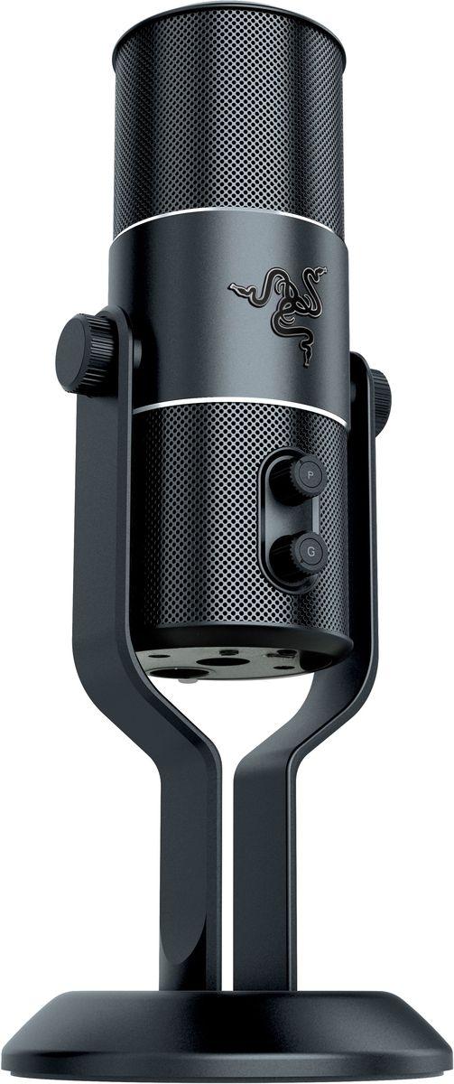 Razer Seiren Pro USB и XLR микрофонRZ05-01320100-R3M1Многофункциональный цифровой USB и XLR микрофон с несколькими диаграммами направленности, с возможностью записи профессионального студийного качества. Он полностью готов к работе.Идеальным решением для записи служит именно Razer Seiren Pro. Эта версия Razer Seiren предоставляет вам выбор записи через аналоговый разъем XLR или цифровой разъем USB. Разъем XLR позволяет вам подключать микрофон Razer Seiren Pro напрямую в профессиональный микшер, предоставляя больше возможностей для записи в зависимости от оборудования. Выход XLR позволяет вам соединять несколько микрофонов и инструментов с микшером. Вы можете задавать расширенные настройки «на ходу», делая запись в прямом эфире. Razer Seiren Pro также имеет отключаемый фильтр высоких частот, отсекающий низкие частоты.Комплектация: Razer Seiren – элитный цифровой USB-микрофон, настольная подставка, кабель Mini-USB на USB, краткое руководство, важная информация об изделии.Дополнительные аксессуары (продаются отдельно): амортизационная опора для микрофона Razer Seiren и Razer Seiren Pro, поп-фильтр Razer для микрофона Seiren, кофр для микрофона Razer Carrying Case for Razer Seiren.