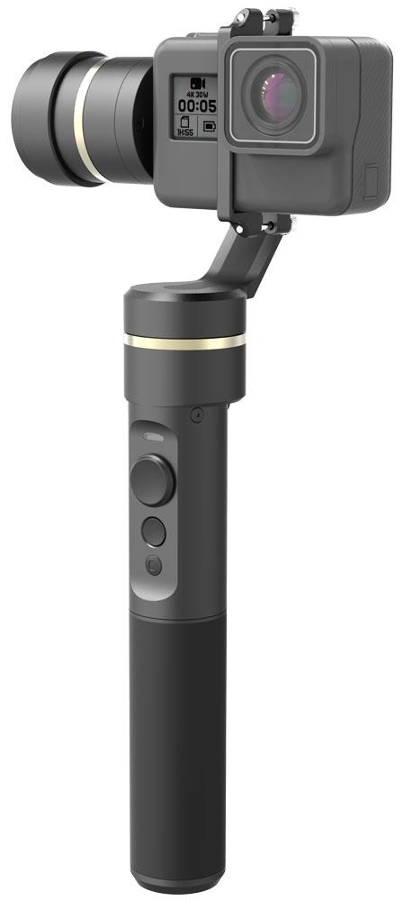 Feiyu Tech G5, Black трехосевой стабилизаторG5Feiyu Tech G5 - трехосевой стабилизатор, который идеально подходит для работы с камерами GoPro HERO5, HERO4, HERO3, HERO3+, 4K и подобными устройствами аналогичных размеров.Теперь не нужно прекращать съемку, даже если неожиданно пошел дождь, вы можете снимать около моря или бассейна - G5не страшны брызги воды (не погружайте стабилизатор полностью в воду).Легкое и интуитивно понятное управление стабилизатором сделает каждый миг работы со стабилизатором Feiyu Tech G5 чистым удовольствием.Новые бесколлекторные моторы стабилизатора G5 придадут такую плавность вашему видео, какой вы еще не видели. Время работы увеличено до 8 часов - вы можете устать, а ваш стабилизатор будет готов продолжить работу.Для управления стабилизатором теперь можно использовать смартфон. Просто установите приложение FY Settings и через Bluetooth меняйте настройки, калибрируйте горизонт и наслаждайтесь процессом работы.Также вы можете установить стабилизатор на монопод или штатив, поскольку G5 оснащен стандартной резьбой 1/4.Угол поворота: 245°Панорамный угол: 360°Время работы: 8 часов