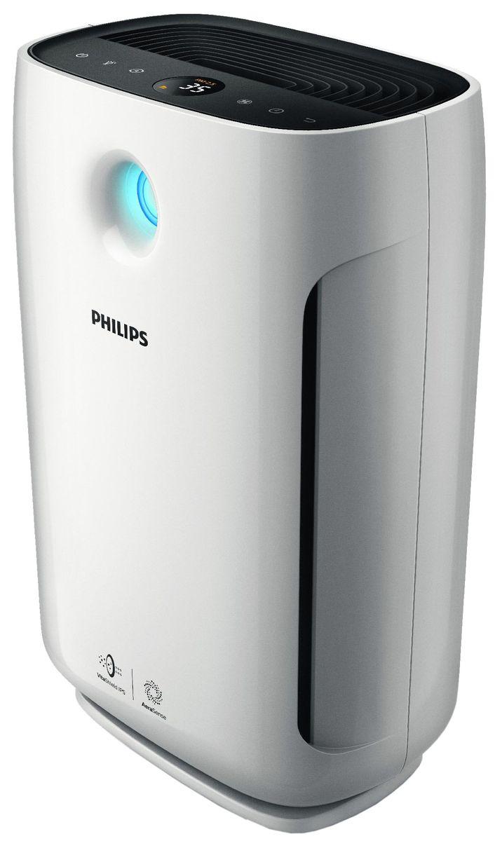 Philips AC2887/10, Black White очиститель воздухаAC2887/10AeraSense — инновационная технология, по характеристикам не уступающая профессиональным датчикам. Она улавливает вредные частицы, размер которых даже меньше, чем у PM2.5, обеспечивает регулировку очистителя воздуха и позволяет оценивать качество воздуха в реальном времени.Высокая эффективность от начала и до конца• Автоматически отслеживает качество и очищает воздух• VitaShield естественным образом удаляет мельчайшие частицы размером до 0,02 мкм• 3 автоматических режима: стандартный, режим задержания аллергенов, режим задержания бактерий и вирусов• Аэродинамический дизайн повышает эффективность воздушного потокаУверенность в стабильной подаче качественного воздуха• Информация об уровне PM2.5 в помещении в реальном времени• Блокировка системы контроля качества воздуха и оповещение о необходимости замены фильтраПродуманный дизайн для удобного использования• Минимальный шум в ночном режиме (20,5 дБА) — на уровне шепота• Интеллектуальное управление световыми индикаторами: регулировка в зависимости от предпочтенийМинимальный шум в ночном режиме (20,5 дБА) — на уровне шепотаВ беззвучном режиме очиститель снижает скорость работы вентилятора и уровень шума, чтобы ночью вы могли спокойно отдохнуть. Световые индикаторы также могут быть отключены и/или приглушены для вашего удобства.Индикатор качества воздуха и световые индикаторы на дисплее можно приглушить и/или отключить, чтобы свет не беспокоил пользователей.Цифровой индикатор содержания частиц класса PM2.5 и 4-цветное кольцо позволяют оценивать качество воздуха в реальном времениОчиститель воздуха Philips имеет 3 автоматических режима: стандартный, особо точный режим задержания аллергенов и высокоэффективный режим задержания бактерий и вирусов. Вы можете выбирать наиболее оптимальный режим в зависимости от пожеланий. VitaShield естественным образом удаляет мельчайшие частицы размером до 0,02 мкм. Аэродинамический дизайн повышает эффективность воздушного потока.