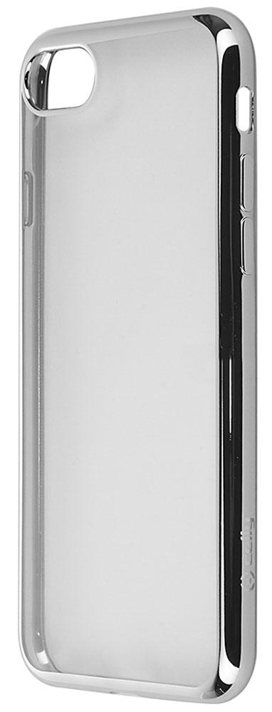 Celly Laser чехол-накладка для Apple iPhone 7, Silver ClearLASER800SVЧехол-накладка Celly Laser для Apple iPhone 7 обеспечивает надежную защиту корпуса смартфона от механических повреждений и надолго сохраняет его привлекательный внешний вид. Накладка выполнена из высококачественного материала, плотно прилегает и не скользит в руках. Чехол также обеспечивает свободный доступ ко всем разъемам и клавишам устройства.