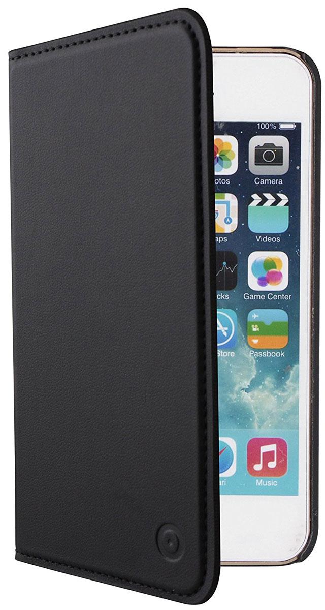 Muvit Folio Stand Case чехол для Apple iPhone 5/5S/SE, BlackMUSNS0272Чехол-книжка Muvit Folio Stand Case для Apple iPhone 5/5S/SE обеспечивает надежную защиту корпуса и экрана смартфона от механических повреждений и надолго сохраняет его привлекательный внешний вид. Выполнен из высококачественного материала, плотно прилегает и не скользит в руках. Чехол также обеспечивает свободный доступ ко всем разъемам и клавишам устройства.