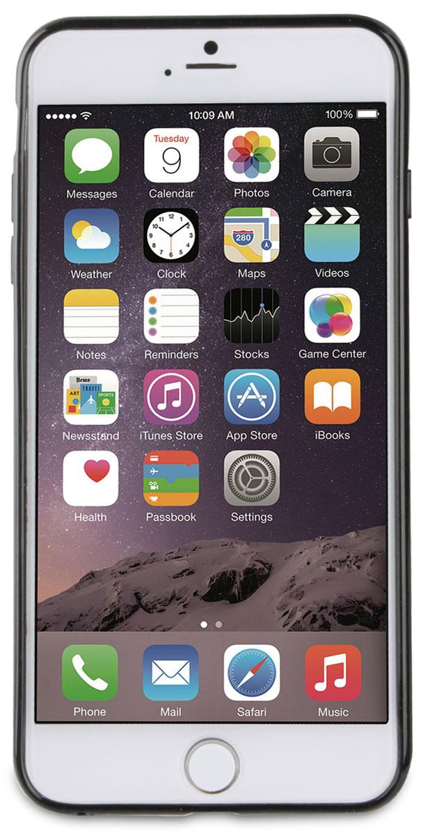 Muvit Myframe Case чехол для Apple iPhone 6 Plus/6s Plus, BlackMUBMC0101Чехол-накладка Muvit Myframe Case для Apple iPhone 6 Plus/6s Plus обеспечивает надежную защиту корпуса смартфона от механических повреждений и надолго сохраняет его привлекательный внешний вид. Накладка выполнена из высококачественного материала, плотно прилегает и не скользит в руках. Чехол также обеспечивает свободный доступ ко всем разъемам и клавишам устройства.