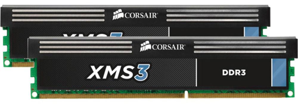 Corsair XMS3 DDR3 2х4Gb 1600 МГц комплект модулей оперативной памяти (CMX8GX3M2A1600C11)CMX8GX3M2A1600C11Память Corsair XMS DDR3 - идеальный выбор для эффективной работы требовательных к ресурсам приложений без дополнительных усилий по разгону системы. Благодаря тщательному подбору интегральных схем, оптимально просчитанной длине цепей и интегрированным теплоотводам вы получаете эффективное стабильное решение, достойное марки Corsair.XMS DDR3 совместима с материнскими платами со стандартными разъемами памяти DDR3 DIMM. Это означает, что она подходит для большинства компьютеров на сегодняшнем рынке, за исключением новейших систем, требующих памяти DDR4.