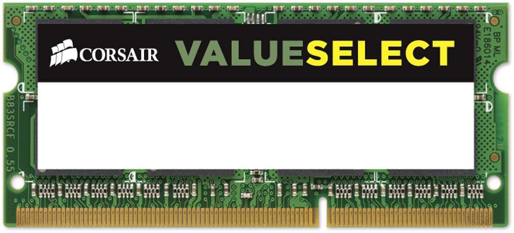 Corsair ValueSelect SO-DIMM DDR3L 8Gb 1600 МГц модуль оперативной памяти (CMSO8GX3M1C1600C11)CMSO8GX3M1C1600C11Модуль памяти Corsair ValueSelect SO-DIMM DDR3L разработан для опережения отраслевых стандартов, чтобы гарантировать максимальную совместимость практически со всеми ноутбуками на Intel и AMD. Он собран из лучших компонентов и тщательно проверен для обеспечения стабильной и надежной работы.