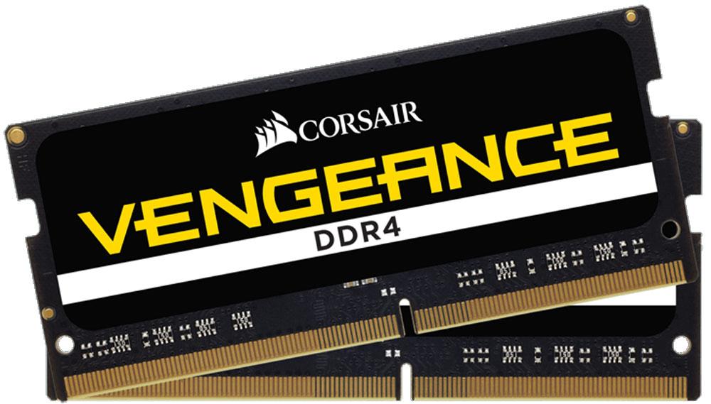 Corsair Vengeance SO-DIMM DDR4 2x16Gb 2666 МГц комплект модулей оперативной памяти (CMSX32GX4M2A2666C18)CMSX32GX4M2A2666C18Если вы используете свой ноутбук для тяжелых приложений, таких как фото- и видеоредакторы, то он должен иметь столько памяти, насколько это возможно. Добавление комплекта памяти Corsair Vengeance DDR4 SODIMMпозволит вам работать в многозадачном режиме между несколькими программами одновременно, загружать и редактировать большие файлы без задержек.Модули памяти Corsair Vengeance DDR4 SODIMM специально разработаны для ноутбуков, в которых установлены процессоры Intel Core i5/i7 шестого или седьмого поколения. Многие ноутбуки оснащены модулями памяти, которые не имеют возможности работать на максимальных частотах, которые поддерживают процессоры. С помощью комплекта высокопроизводительных модулей Corsair Vengeance DDR4 SODIMM ваш ноутбук автоматически определит самую высокую частоту, которую поддерживает память для наилучшей работы.