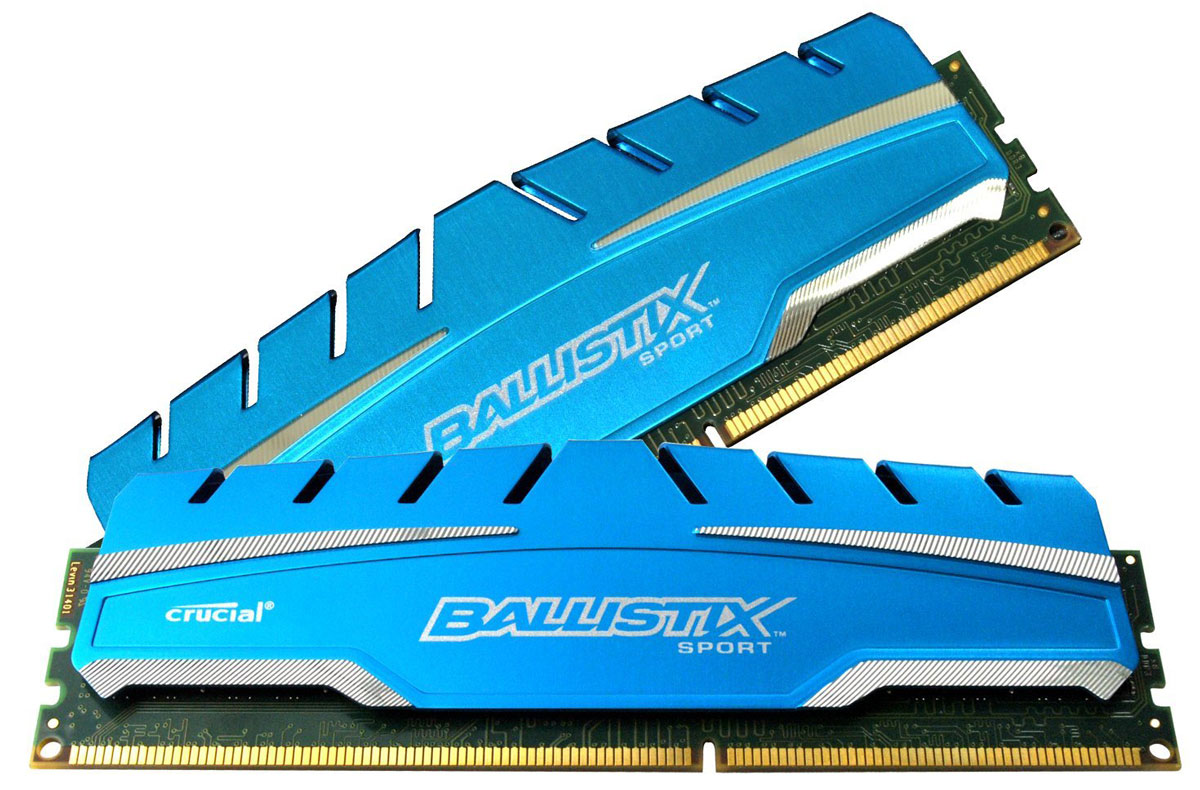Crucial Ballistix Sport XT DDR3 2x4Gb 1866 МГц комплект модулей оперативной памяти (BLS2C4G3D18ADS3J)BLS2C4G3D18ADS3JМодули оперативной памяти Crucial Ballistix Sport XT типа DDR3 предоставляют качество работы, надежность и производительность, требуемую для современных компьютеров сегодня. Оснащены теплоотводом, выполненным из чистого алюминия, что ускоряет рассеяние тепла.Общий объем памяти составляет 8 ГБ, что позволит свободно работать со стандартными, офисными и профессиональными ресурсоемкими программами, а также современными требовательными играми. Работа осуществляется при тактовой частоте 1866 МГц и пропускной способности, достигающей до 14900 Мб/с, что гарантирует качественную синхронизацию и быструю передачу данных, а также возможность выполнения множества действий в единицу времени. Параметры тайминга 10-10-10-30 гарантируют быструю работу системы. Имеется поддержка XMP для удобного разгона в автоматическом режиме.