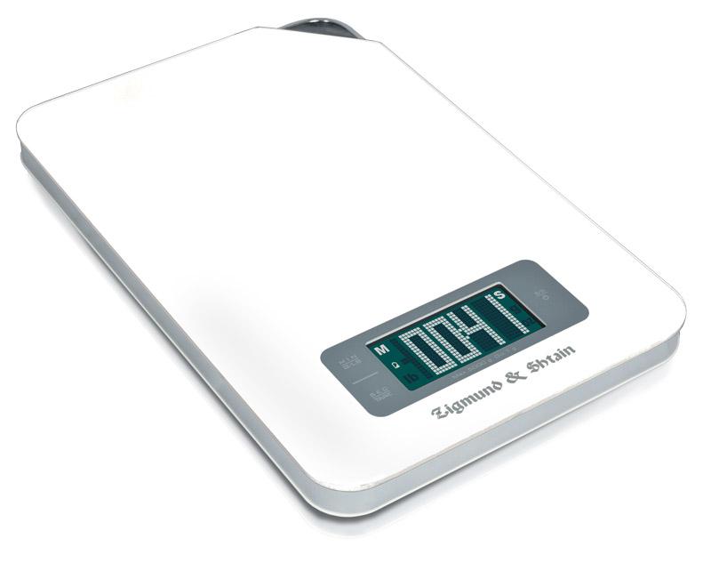 Zigmund & Shtain DS-25TW весы кухонныеDS-25TWВесы кухонные, оснащенные таймером; Максимальный вес измерения: 5 кг; Цветной жидкокристаллический дисплей Сенсорная панель управления; Таймер прямого и обратного отсчета на 99 минут; Функция обнуления веса тарыШаг деления: 1 гр. ; Автоматическое или ручное отключениеИндикация превышения максимально допустимого веса Индикация разряда элементов питания; Петля для подвешивания; Материал покрытия - закаленное стекло белого цвета