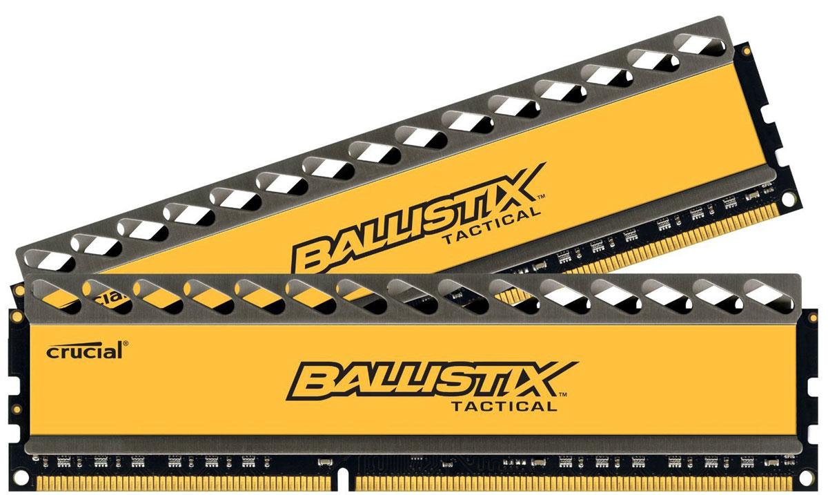Crucial Ballistix Tactical DDR3 2x8Gb 1600 МГц комплект модулей оперативной памяти (BLT2CP8G3D1608DT1TX0CEU)BLT2CP8G3D1608DT1TX0CEUМодули оперативной памяти Crucial Ballistix Tactical типа DDR3 предоставляют качество работы, надежность и производительность, требуемую для современных компьютеров сегодня. Оснащены теплоотводом, выполненным из чистого алюминия, что ускоряет рассеяние тепла.Общий объем памяти составляет 16 ГБ, что позволит свободно работать со стандартными, офисными и профессиональными ресурсоемкими программами, а также современными требовательными играми. Работа осуществляется при тактовой частоте 1600 МГц и пропускной способности, достигающей до 12800 Мб/с, что гарантирует качественную синхронизацию и быструю передачу данных, а также возможность выполнения множества действий в единицу времени. Параметры тайминга 8-8-8-24 гарантируют быструю работу системы.