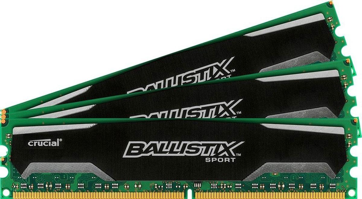 Crucial Ballistix Sport DDR3 4х8Gb 1600 МГц комплект модулей оперативной памяти (BLS4CP8G3D1609DS1S00BEU)BLS4CP8G3D1609DS1S00BEUМодули оперативной памяти Crucial Ballistix Sport типа DDR3 предоставляют качество работы, надежность и производительность, требуемую для современных компьютеров сегодня. Оснащены теплоотводом, выполненным из чистого алюминия, что ускоряет рассеяние тепла.Общий объем памяти составляет 32 ГБ, что позволит свободно работать со стандартными, офисными и профессиональными ресурсоемкими программами, а также современными требовательными играми. Работа осуществляется при тактовой частоте 1600 МГц и пропускной способности, достигающей до 12800 Мб/с, что гарантирует качественную синхронизацию и быструю передачу данных, а также возможность выполнения множества действий в единицу времени. Параметры тайминга 9-9-9-24 гарантируют быструю работу системы. Имеется поддержка XMP для удобного разгона в автоматическом режиме.