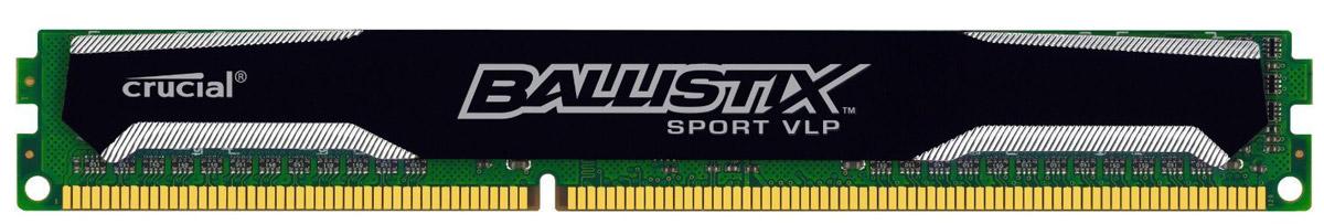 Crucial Ballistix Sport VLP DDR3L 4Gb 1600 МГц модуль оперативной памяти (BLS4G3D1609ES2LX0CEU)BLS4G3D1609ES2LX0CEUМодуль оперативной памяти Crucial Ballistix Sport VLP типа DDR3L предоставляет качество работы, надежность и производительность, требуемую для современных компьютеров сегодня. Оснащен теплоотводом, выполненным из чистого алюминия, что ускоряет рассеяние тепла.Модуль работает при тактовой частоте 1600 МГц и пропускной способности, достигающей до 12800 Мб/с, что гарантирует качественную синхронизацию и быструю передачу данных, а также возможность выполнения множества действий в единицу времени. Параметры тайминга 9-9-9-24 гарантируют быструю работу системы.
