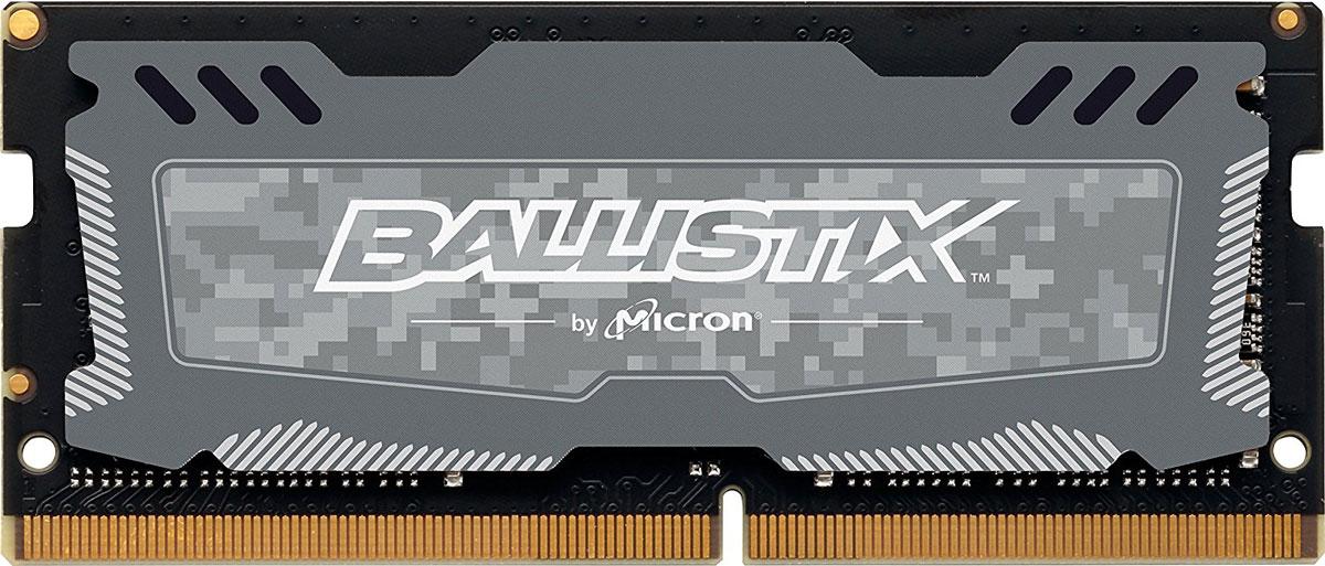 Crucial Ballistix Sport LT SO-DIMM DDR4 16Gb 2400 МГц модуль оперативной памяти (BLS16G4S240FSD)BLS16G4S240FSDМодуль оперативной памяти Crucial Ballistix Sport LT типа SO-DIMM DDR4 предоставляет качество работы, надежность и производительность, требуемую для современных ноутбуков сегодня. Оснащен теплоотводом, выполненным из чистого алюминия, что ускоряет рассеяние тепла. Благодаря низкому напряжению (1,2 В), снижается потребление энергии, что обеспечивает снижение нагрева и бесшумную работу ноутбука.Работа модуля осуществляется при тактовой частоте 2400 МГц и пропускной способности, достигающей до 19200 Мб/с, что гарантирует качественную синхронизацию и быструю передачу данных, а также возможность выполнения множества действий в единицу времени. Тайминг CL-16 гарантирует быструю работу системы.