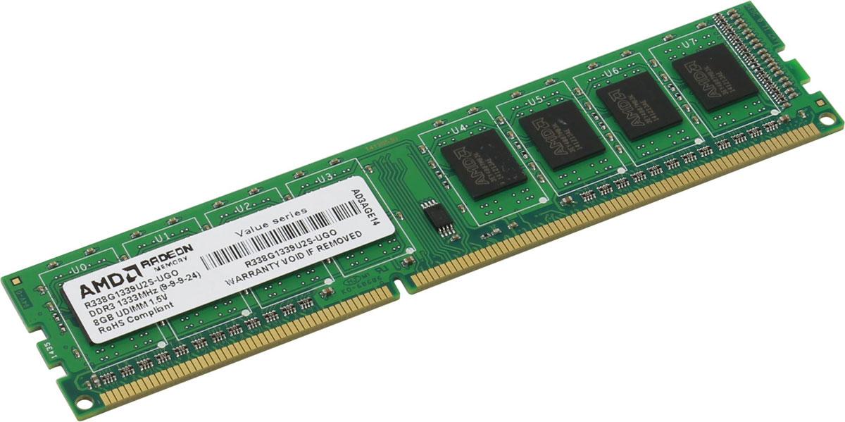 AMD Radeon DDR3 8GB 1333MHz модуль оперативной памяти (R338G1339U2S-UGO)