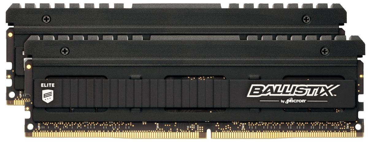 Crucial Ballistix Elite DDR4 2x8Gb 2666 МГц комплект модулей оперативной памяти (BLE2C8G4D26AFEA)BLE2C8G4D26AFEAКомплект модулей оперативной памяти Crucial Ballistix Elite типа DDR4 обеспечивает увеличенную рабочую частоту (по сравнению с предыдущем поколением) при сниженном тепловыделении и экономном энергопотреблении. Благодаря низкому напряжению (1,2 В), снижается потребление энергии, что обеспечивает отсутствие нагрева и бесшумную работу ПК. Теплоотвод выполнен из чистого алюминия, что ускоряет рассеяние тепла.Общий объем памяти в 16 ГБ позволит свободно работать со стандартными, офисными и профессиональными ресурсоемкими программами, а также современными требовательными играми. Работа осуществляется при тактовой частоте 2666 МГц и пропускной способности, достигающей до 21300 Мб/с, что гарантирует качественную синхронизацию и быструю передачу данных, а также возможность выполнения множества действий в единицу времени. Параметры тайминга 16-17-17 гарантируют быструю работу системы. Имеется поддержка XMP 2.0 для удобного разгона в автоматическом режиме.