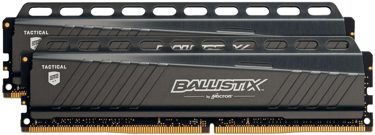 Crucial Ballistix Tactical DDR4 2x8Gb 2666 МГц комплект модулей оперативной памяти (BLT2C8G4D26AFTA)BLT2C8G4D26AFTAКомплект модулей оперативной памяти Crucial Ballistix Tactical типа DDR4 обеспечивает увеличенную рабочую частоту (по сравнению с предыдущем поколением) при сниженном тепловыделении и экономном энергопотреблении. Благодаря низкому напряжению (1,2 В), снижается потребление энергии, что обеспечивает отсутствие нагрева и бесшумную работу ПК. Теплоотвод выполнен из чистого алюминия, что ускоряет рассеяние тепла.Общий объем памяти в 16 ГБ позволит свободно работать со стандартными, офисными и профессиональными ресурсоемкими программами, а также современными требовательными играми. Работа осуществляется при тактовой частоте 2666 МГц и пропускной способности, достигающей до 21300 Мб/с, что гарантирует качественную синхронизацию и быструю передачу данных, а также возможность выполнения множества действий в единицу времени. Параметры тайминга 16-17-17 гарантируют быструю работу системы. Память оптимизирована для материнских платах серии X99. Имеется поддержка XMP 2.0 для удобного разгона в автоматическом режиме.