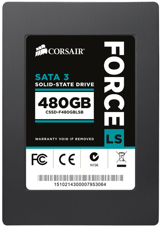 Corsair Force Series LS 480GB SSD-накопитель (CSSD-F480GBLSB)