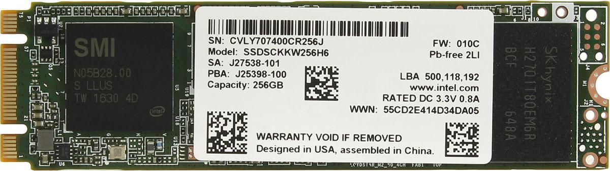 Intel 540s Series 256GB SSD-накопитель (SSDSCKKW256H6X1)