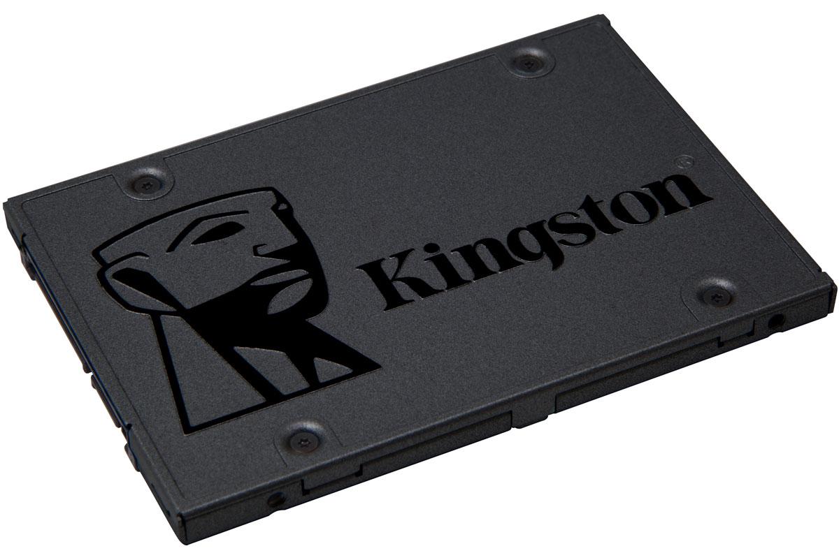 Kingston A400 480GB SSD-накопитель (SA400S37/480G)SA400S37/480GТвердотельный накопитель Kingston A400 значительно повышает скорость работы системы, обеспечивая более высокую скорость запуска, загрузки и передачи данных по сравнению с механическими жесткими дисками.Твердотельные накопители Kingston делают систему более отзывчивой, позволяя ускорить запуск системы, увеличить скорость загрузки приложений и выключения компьютера. Они поставляются в комплектах для модернизации, содержащих ПО для клонирования файлов и ОС за считанные минуты.SSD-накопитель создан на базе контроллера последнего поколения и обеспечивает в 10 более высокую скорость работы по сравнению с традиционными жесткими дисками. Благодаря этому обеспечивается повышенная производительность, сверхотзывчивая многозадачность и общее ускорение системы.