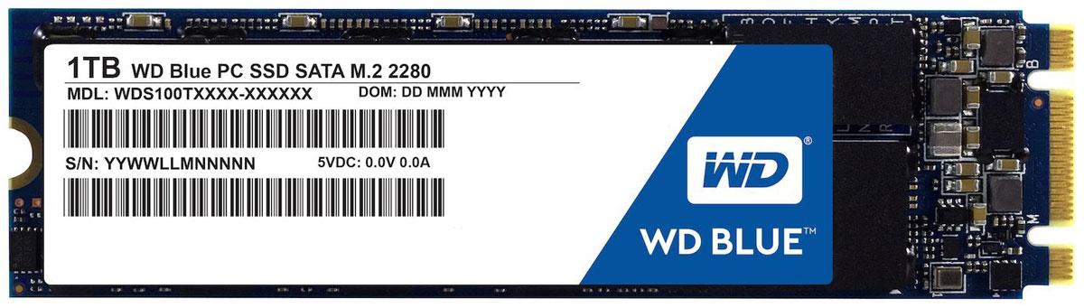 WD Blue 1TB SSD-накопитель (WDS100T1B0B)WDS100T1B0BТвердотельный накопитель WD Blue отличается высоким быстродействием и обеспечивает эффективное хранение данных наряду с высокой скоростью передачи и ведущей в отрасли надежностью.Оптимизированные для параллельного выполнения нескольких задач твердотельные накопители WD Blue позволяют с легкостью запускать несколько ресурсоемких приложений одновременно.Твердотельные накопители WD Blue доступны в формфакторах 2,5 дюйма (7 мм) и M.2 2280 для самых тонких и компактных компьютеров, что позволяет комплектовать ими большинство ноутбуков и настольных ПК. Доступная для скачивания панель мониторинга твердотельных накопителей WD содержит набор инструментов, с помощью которых можно в любой момент проверить работоспособность твердотельного накопителя.Благодаря сертификации WD F.I.T. Lab на совместимость с широким спектром ноутбуков и настольных ПК вы можете быть полностью уверены, что накопитель WD Blue подходит вам идеально.На каждый твердотельный накопитель WD Blue предоставляется 3-летняя ограниченная гарантия, которая застрахует ваш накопитель WD при хранении любых данных.