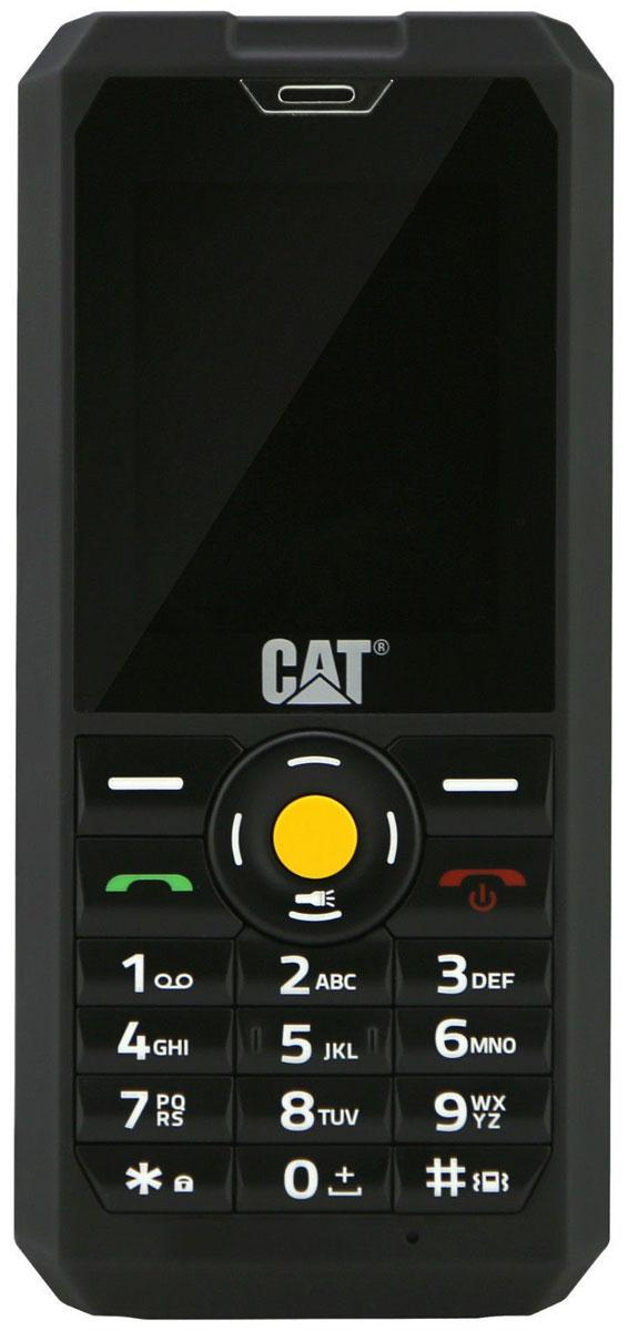 Caterpillar Cat B30, BlackB30-BKCaterpillar Cat B30 - это ударопрочный телефон с поддержкой 2-х сим-карт, предназначенный для людей ведущих активный образ жизни и экстремалов, желающих оставаться на связи со всем миром.Двухдюймовый TFT-дисплей телефона обладает противоударными свойствами. О высоком уровне защищённости устройства свидетельствует его сертификат IP67, благодаря которому телефон выдерживает погружение в воду до 1 м на время до 30 мин, защищен от дождя, тумана, попадания пыли и микрочастиц.Из расширенных функций стоит отметить наличие в телефоне встроенного медиаплеера. Клавиатура имеет износостойкие кнопки. Для хранения излюбленных музыкальных композиций в ударопрочный водонепроницаемый телефон Caterpillar CAT B30 можно использовать карту памяти типа MicroSD объёмом до 16 ГБ.Заслуживает внимания и 2 Мпикс фотокамера, благодаря которой вы сможете запечатлеть наиболее увлекательные моменты своей жизни. Для передачи фотоснимков и видеороликов можно воспользоваться встроенным Bluetooth или портом micro-USB.