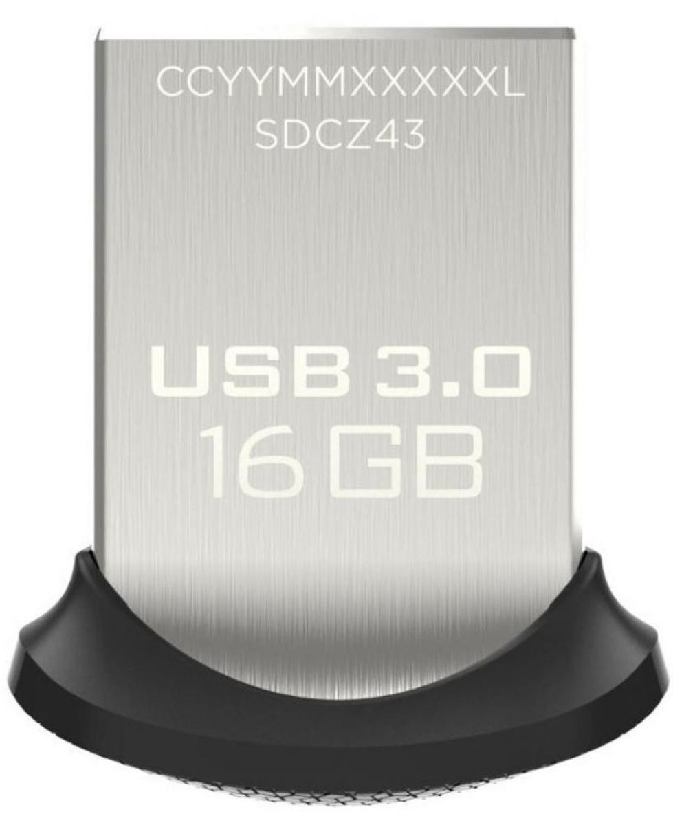 SanDisk Ultra Fit 3.0 16GB, Black USB-накопитель