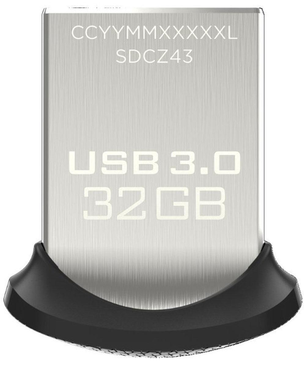 SanDisk Ultra Fit 3.0 32GB, Black USB-накопительSDCZ43-032G-GAM46Сверхминиатюрный низкопрофильный накопитель SanDisk Ultra Fit 3.0 всегда готов прийти на помощь при нехватке дискового пространства или исключительно быстро переместить мультимедиа с одного устройства на другое. Оцените почти 10-кратное превосходство в скорости в сравнении со стандартными накопителями USB 2.0 и копируйте полнометражные фильмы менее чем за 40 секунд.Надежный накопитель для всех ваших устройствРасширьте память своего устройства (дополнительная память до 128 ГБ) с помощью этого маленького удобного флеш-накопителя USB 3.0. Подключите его к труднодоступному USB-порту телевизора и смотрите видео или возьмите его с собой в ноутбуке или автомобильной аудиосистеме.Супербыстрый перенос контента с устройства на устройство - где бы вы ни находилисьБлагодаря высокой скорости USB 3.0 вам не придется больше ждать. Теперь переносить фотографии, музыку или видео с одного устройства на другое просто, как никогда. Полнометражный фильм передается до 10 раз быстрее, чем с помощью обычного накопителя USB 2.0.Пусть личное останется личнымНакопители SanDisk Ultra Fit 3.0 оснащены программным обеспечением SanDisk SecureAccess, которое создает на накопителе личную папку, защищенную паролем. Ваши личные файлы будут защищены 128-разрядным шифрованием AES, и поэтому вы сможете передавать свой USB-накопитель другим людям, не беспокоясь о том, что они попадут в чужие руки.Восстановление потерянных или поврежденных файловБлагодаря бесплатной годовой подписке на программное обеспечение RescuePRO вы сможете восстановить случайно удаленные или потерянные при сбое компьютера файлы.