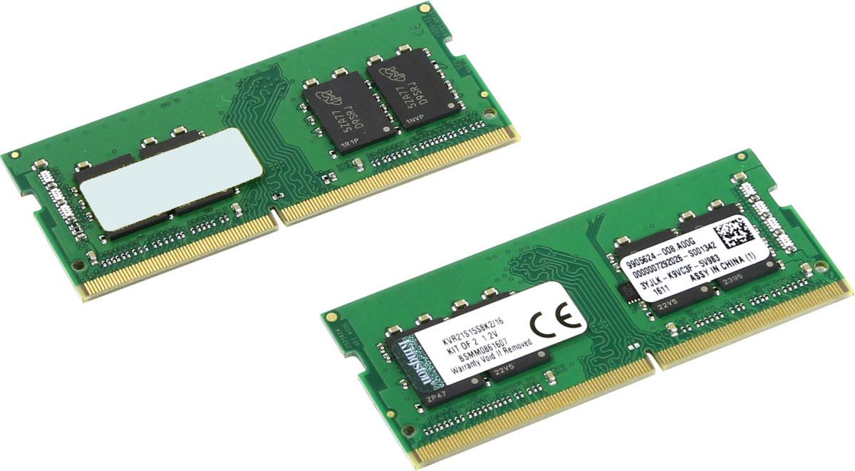 Kingston ValueRAM SO-DIMM DDR4 2x8GB 2133МГц модуль оперативной памяти (KVR21S15S8K2/16)KVR21S15S8K2/16Модуль оперативной памяти для ноутбуков Kingston ValueRAM обеспечивает увеличенную рабочую частоту при сниженном тепловыделении и экономном энергопотреблении. Напряжение питания при работе составляет 1,2 В. При производстве оперативной памяти использовались только передовые технологи, с использованием качественных и прочных материалов, которые после установки позволят работать быстро, плавно, без зависаний. Мощная начинка способна работать с частотой 2133 МГц, а пропускная способность достигает 17000 Мб/с. Такие характеристики, которые смогут удовлетворить потребности большинства пользователей.