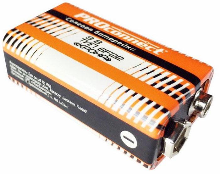 Батарейка солевая PROconnect Крона, 9V, 6F2230-0030Вам нужна батарейка для устройства со стабильным уровнем потребления? Для этого отлично подойдет солевая батарейка 9V КРОНА PROconnect 6F22 в термопленке. Сейчас такие батарейки используются гораздо реже, чем раньше. Однако вы все еще можете встретить такие батарейки в некоторых устройствах: в пультах управления игрушек, машинок и вертолетов, в рациях и радиомикрофонах. Солевые батарейки отличаются невысокой ценой и длительным сроком службы при использовании их в устройствах со стабильным уровнем потребления.