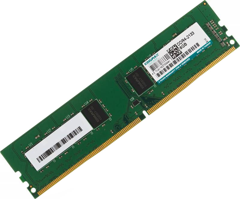 Kingmax DDR4 8Gb 2133 МГц модуль оперативной памяти400808Небуферезированная память Kingmax DDR4 предоставляет качество работы, надежность и производительность, требуемую для современных ПК сегодня. Объем модуля памяти в 8 ГБ позволит свободно работать со стандартными, офисными и профессиональными ресурсоемкими программами, а также современными требовательными играми. Работа осуществляется при тактовой частоте 2133 МГц и пропускной способности, достигающей до 17000 Мб/с, что гарантирует качественную синхронизацию и быструю передачу данных, а также возможность выполнения множества действий в единицу времени. Тайминг CL-15 гарантирует быструю работу системы.