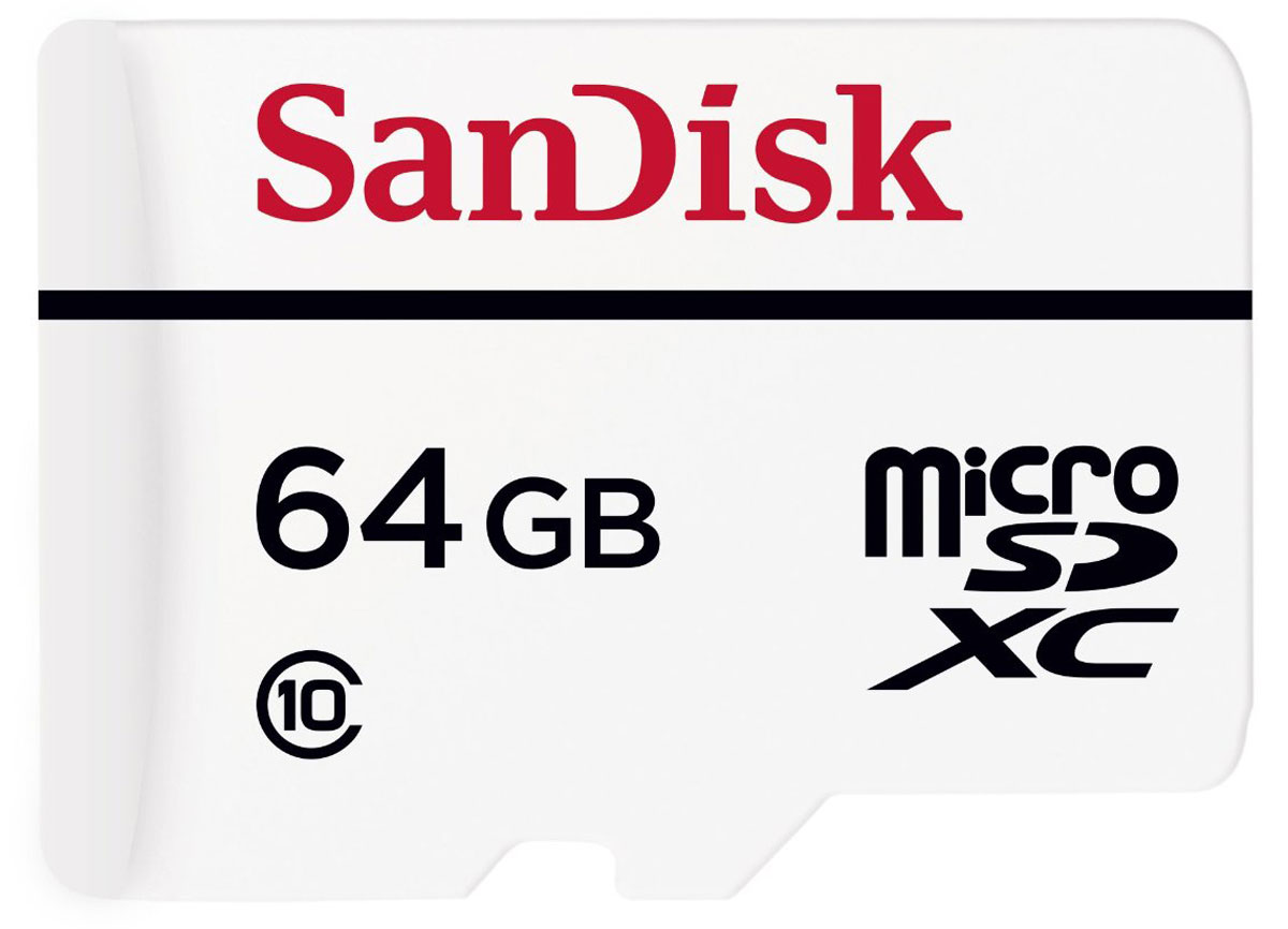 SanDisk High Endurance Video Monitoring microSDXC 64GB карта памяти с адаптером